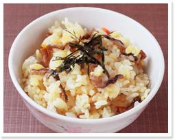 贅沢だしを使った簡単レシピ タコの炊き込みご飯