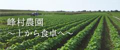 峰村農園~土から食卓へ~